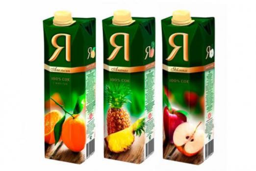 """Сок в ассортименте """"Я"""" 1 литр"""